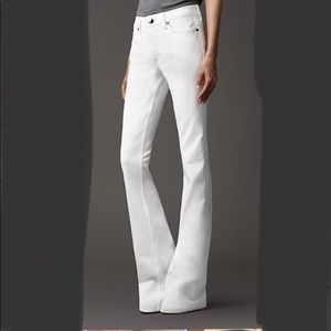 Burberry Harwood Flare White Jeans
